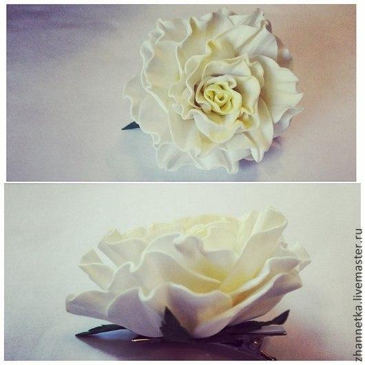 """Заколки ручной работы. Ярмарка Мастеров - ручная работа. Купить Заколка """"Розочка"""". Handmade. Роза из фоамирана, украшения ручной работы"""