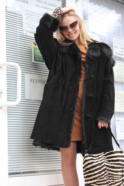 Верхняя одежда ручной работы. Ярмарка Мастеров - ручная работа. Купить Дубленка Оversize. Handmade. Зимнее пальто, Дизайнерское пальто
