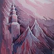 """Картины и панно ручной работы. Ярмарка Мастеров - ручная работа картина """"Тибет"""". Handmade."""