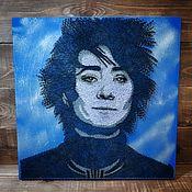 Картины и панно ручной работы. Ярмарка Мастеров - ручная работа портрет певицы Земфиры в стиле stringart / popart. Handmade.