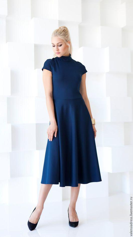 Платье на каждый день, платье из джерси, платье длина миди