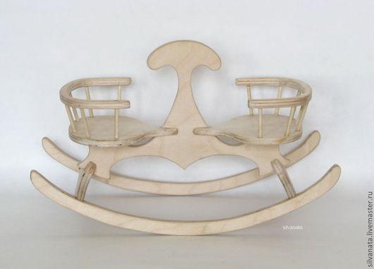 Кукольный дом ручной работы. Ярмарка Мастеров - ручная работа. Купить Мебель для мишек и кукол.Качалка-качели.. Handmade. Белый