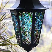 """Для дома и интерьера ручной работы. Ярмарка Мастеров - ручная работа фонарик """"прозрачный голубой"""". Handmade."""