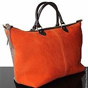 """Сумки и аксессуары ручной работы. Ярмарка Мастеров - ручная работа Сумка """"Safari"""", замшевая сумка, большая сумка, оранжевый. Handmade."""