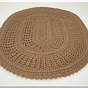 Для дома и интерьера handmade. Livemaster - original item Knitted Mat of oval cord. Handmade.