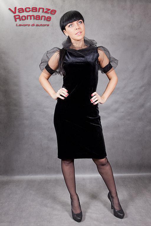 Платья ручной работы. Ярмарка Мастеров - ручная работа. Купить VACANZE ROMANE-546. Handmade. Авторское платье, сетка