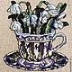 """Картины цветов ручной работы. Ярмарка Мастеров - ручная работа. Купить Интерьерное панно """"Винтажные цветы"""". Handmade. Сиреневый"""