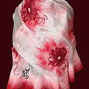 """Аксессуары ручной работы. Ярмарка Мастеров - ручная работа Шарф палантин """"Розовые облака"""". Handmade."""