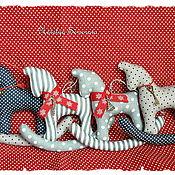 Сувениры и подарки handmade. Livemaster - original item Horses & Deer, Christmas tree toys, polka dots and stripes, new year. Handmade.