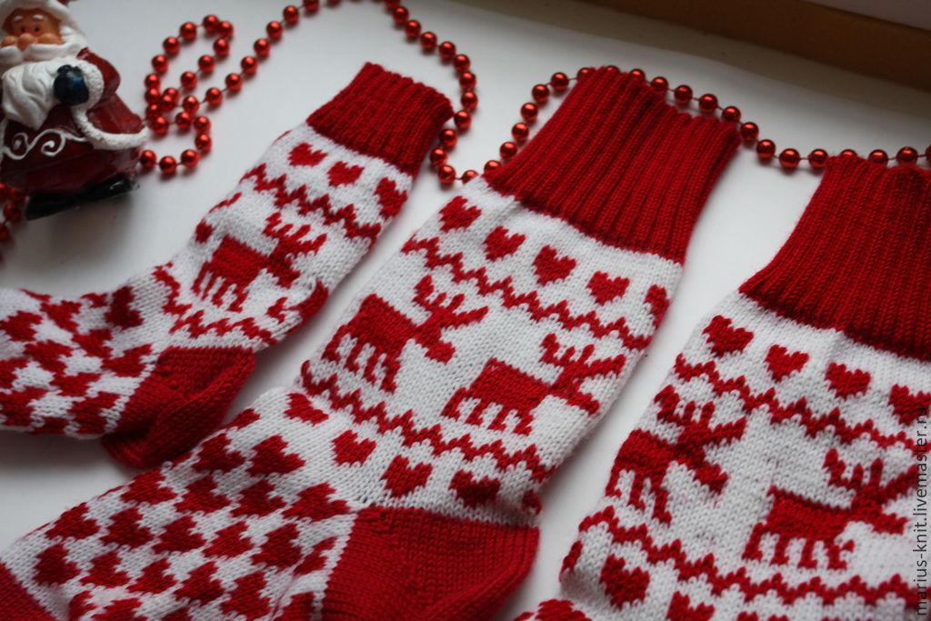 как связать новогодние носочки фото точная оценка