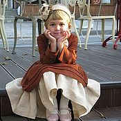 Работы для детей, handmade. Livemaster - original item Dress linen Miss. Handmade.