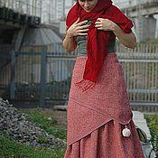 Одежда ручной работы. Ярмарка Мастеров - ручная работа Юбка тройная зимняя тёплая Трилистник-капуста. Handmade.