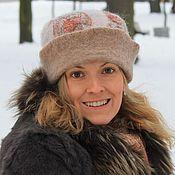 Аксессуары handmade. Livemaster - original item TORA.  Felted beanie hat lapel. Handmade.