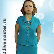 "Одежда handmade. Livemaster - original item Knitted suit""Autumn sketch"". Handmade."