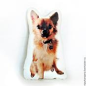 Подарки к праздникам ручной работы. Ярмарка Мастеров - ручная работа ПОДУШКА НА ЗАКАЗ по фотографии, портрет собаки, портрет кошки. Handmade.