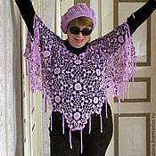 Одежда handmade. Livemaster - original item Crocheted openwork poncho.. Handmade.