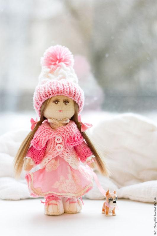Коллекционные куклы ручной работы. Ярмарка Мастеров - ручная работа. Купить Зефирка и её друг Бакстер. Handmade. Розовый, зефирка