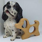 Куклы и игрушки handmade. Livemaster - original item Teething toy wooden Dog. Handmade.