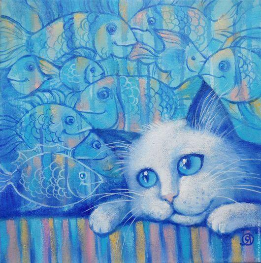 """Животные ручной работы. Ярмарка Мастеров - ручная работа. Купить """" Мечтатель..."""". Handmade. Комбинированный, кот, кошка, котенок"""