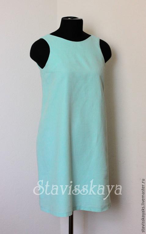 Платья ручной работы. Ярмарка Мастеров - ручная работа. Купить Платье трапеция. Handmade. Разноцветный, платье для беременных, льняная одежда