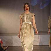 Сарафаны ручной работы. Ярмарка Мастеров - ручная работа Валяно-льняное платье. Handmade.