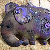 Куклы и игрушки ручной работы. Ярмарка Мастеров - ручная работа Кофейный слоник Нюшик. Handmade.