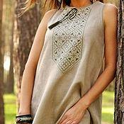 Народные рубахи ручной работы. Ярмарка Мастеров - ручная работа Платье с вышивкой. Handmade.