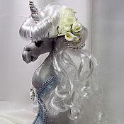 Куклы и игрушки ручной работы. Ярмарка Мастеров - ручная работа Сказочный Единорог - интерьерная текстильная игрушка. Handmade.
