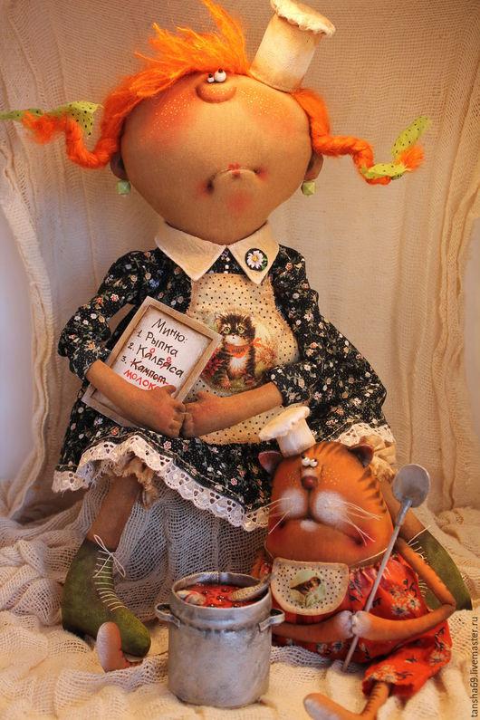Коллекционные куклы ручной работы. Ярмарка Мастеров - ручная работа. Купить Кулинары.... Handmade. Комбинированный, синтепух