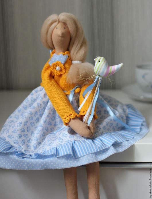 Куклы Тильды ручной работы. Ярмарка Мастеров - ручная работа. Купить Фея  Праздника. Handmade. Голубой, подарок девушке