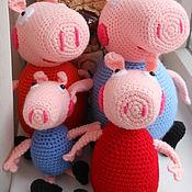 Куклы и игрушки ручной работы. Ярмарка Мастеров - ручная работа Семья Пеппы. Handmade.