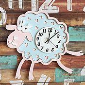 Для дома и интерьера ручной работы. Ярмарка Мастеров - ручная работа Детские настенные часы Овечка Зефирка. Handmade.
