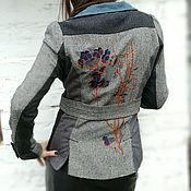 Одежда ручной работы. Ярмарка Мастеров - ручная работа Жакет из твида с вышивкой. Handmade.