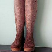 Обувь ручной работы handmade. Livemaster - original item Boots-transformers felted
