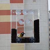 Дача и сад handmade. Livemaster - original item Bird feeder on the window