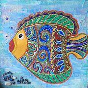Картины и панно ручной работы. Ярмарка Мастеров - ручная работа Панно Fish. Handmade.