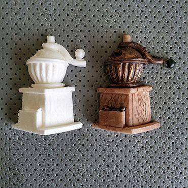 Материалы для творчества ручной работы. Ярмарка Мастеров - ручная работа Кофемолка миниатюрная. Handmade.