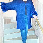"""Одежда ручной работы. Ярмарка Мастеров - ручная работа Вязанный кардиган  """"Love in Blue"""" волшебного синего цвета. Handmade."""
