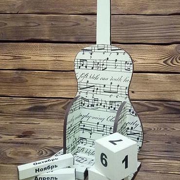 """Канцелярские товары ручной работы. Ярмарка Мастеров - ручная работа Вечный календарь """"Гитара"""" авторская работа. Handmade."""