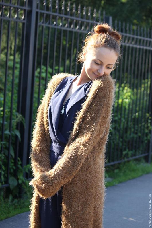 Вязаное пальто вязаное, мохеровое пальто мохеровое, пальто из мохера, вязаный кардиган вязаный, мохеровый кардиган мохеровый, кардиган из мохера, длинное пальто, пальто по колено