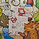 """Шарфы и шарфики ручной работы. Ярмарка Мастеров - ручная работа. Купить Шарф """"Безумное чаепитие"""". Handmade. Рисунок, чеширский кот"""