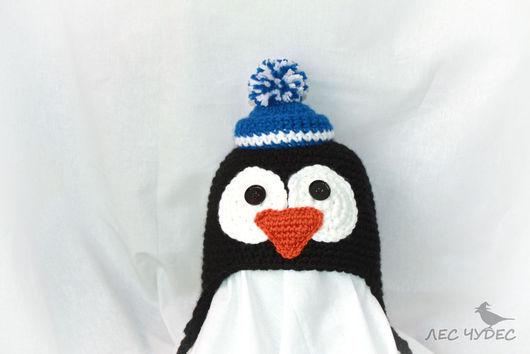 """Шапки ручной работы. Ярмарка Мастеров - ручная работа. Купить Детская шапка """"Пингвинёнок"""". Handmade. Черный, необычная шапка"""