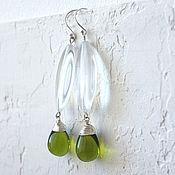 Украшения handmade. Livemaster - original item Earrings made of Czech glass Summer Inspiration. Handmade.