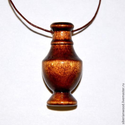 Кулоны, подвески ручной работы. Ярмарка Мастеров - ручная работа. Купить Деревянный кулон Аромакулон из натурального дерева (береза). Handmade.