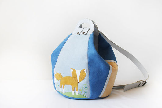"""Женские сумки ручной работы. Ярмарка Мастеров - ручная работа. Купить Женский рюкзак """"Лисица"""". Handmade. Голубой, рюкзак для девушки"""