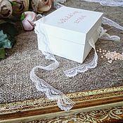 Свадебный салон ручной работы. Ярмарка Мастеров - ручная работа Шкатулка для свадебных колец. Handmade.