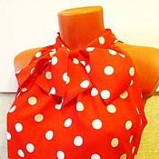 Одежда handmade. Livemaster - original item Blouse White dots on a red 40R.,42p.,44r.,46.,48r,.50p..... Handmade.