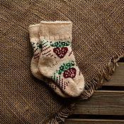 Аксессуары handmade. Livemaster - original item The baby socks wool Angora. Handmade.
