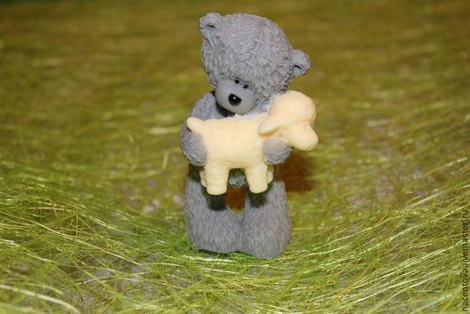 """Мыло ручной работы. Ярмарка Мастеров - ручная работа. Купить Мыло """"Тедди с овечкой"""". Handmade. Тедди мишка, масло миндаля"""