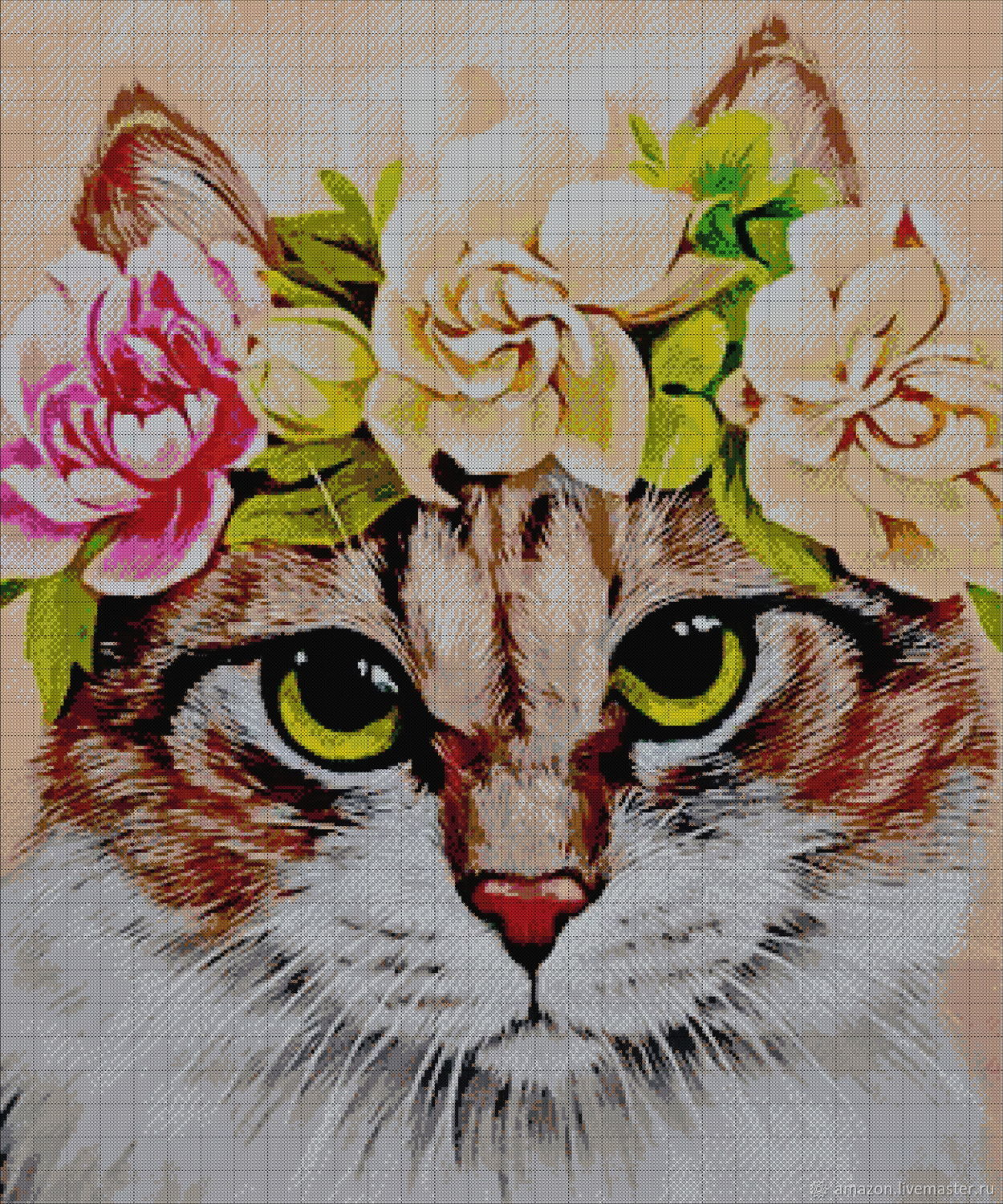 Kit of embroidery with beads ' KITTY', Creator\'s Kit, Ufa,  Фото №1